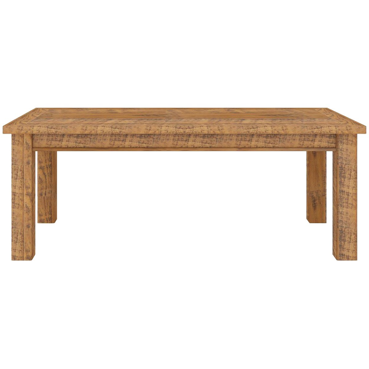 Serafin Rustic Pine Timber Dining Table, 210cm