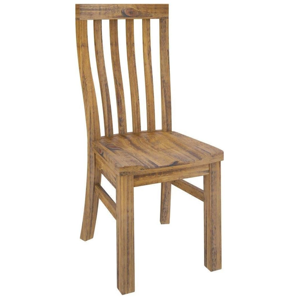 Serafin Rustic Pine Timber Dining Chair