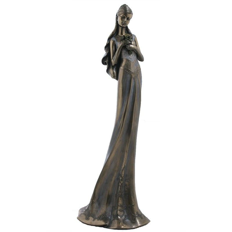 Cast Bronze Figurine of Waiting in Love, Female