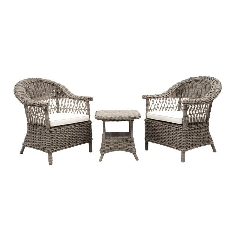 Marsaille 3 Piece Kubu Wicker Lounge Set