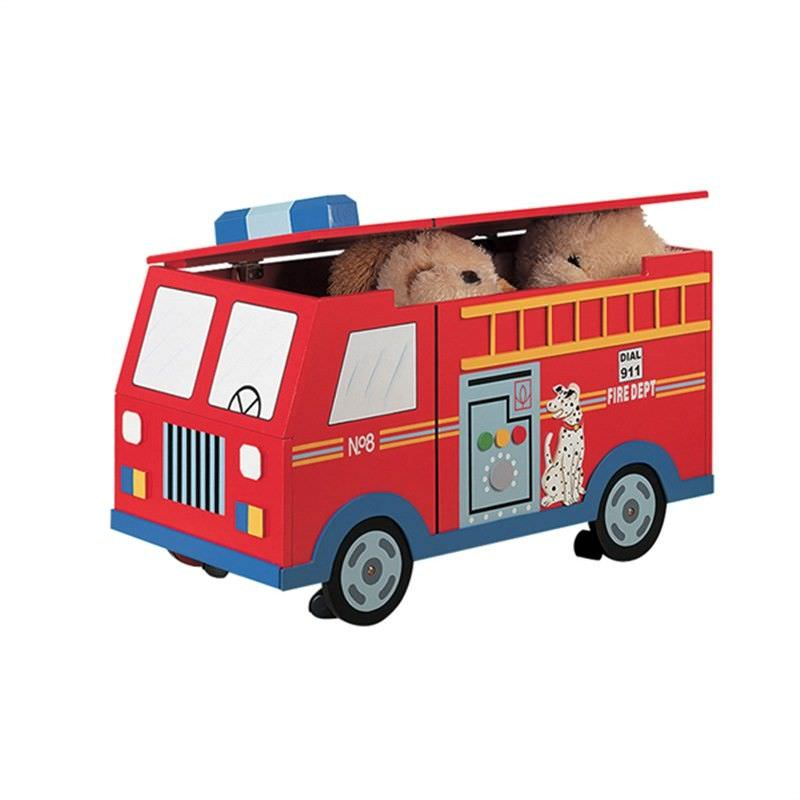 Fire Engine Toy Chest on wheels