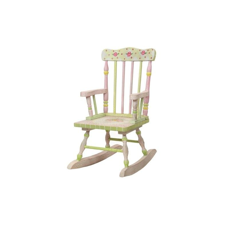 Crackle Rose Rocking Chair