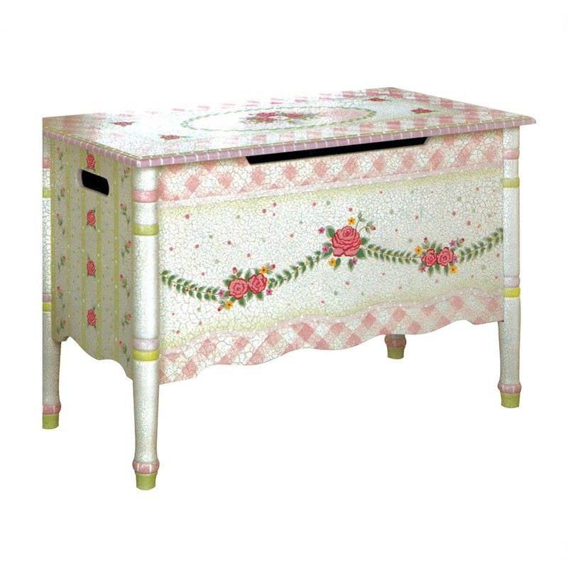 Crackle Rose Toy Chest