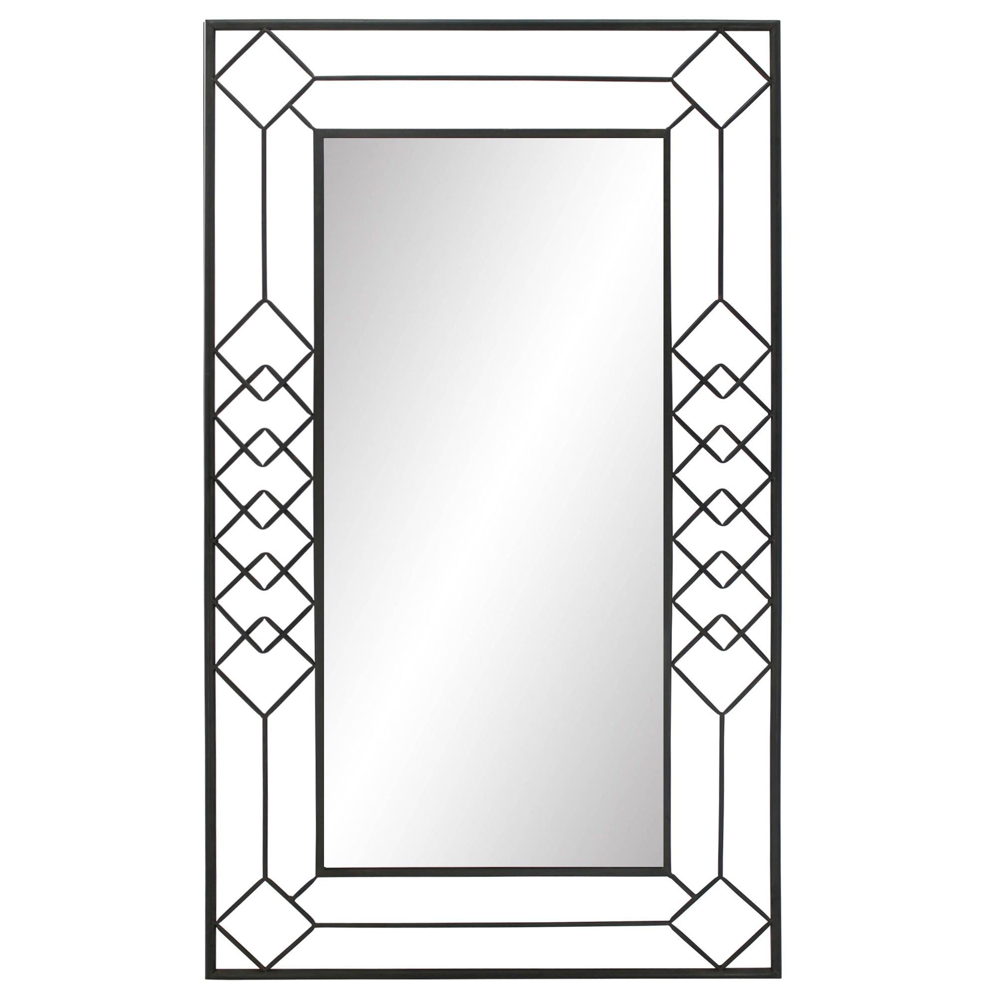 Eros Metal Framed Wall Mirror, 110cm