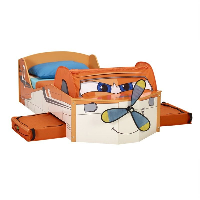 Worlds Apart Planes Dusty Toddler Bed with Storage