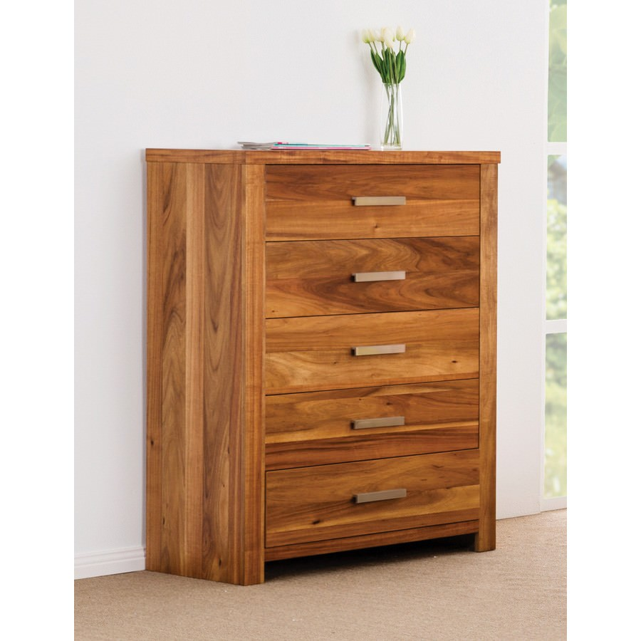 Waratah Wooden 5 Drawer Tallboy