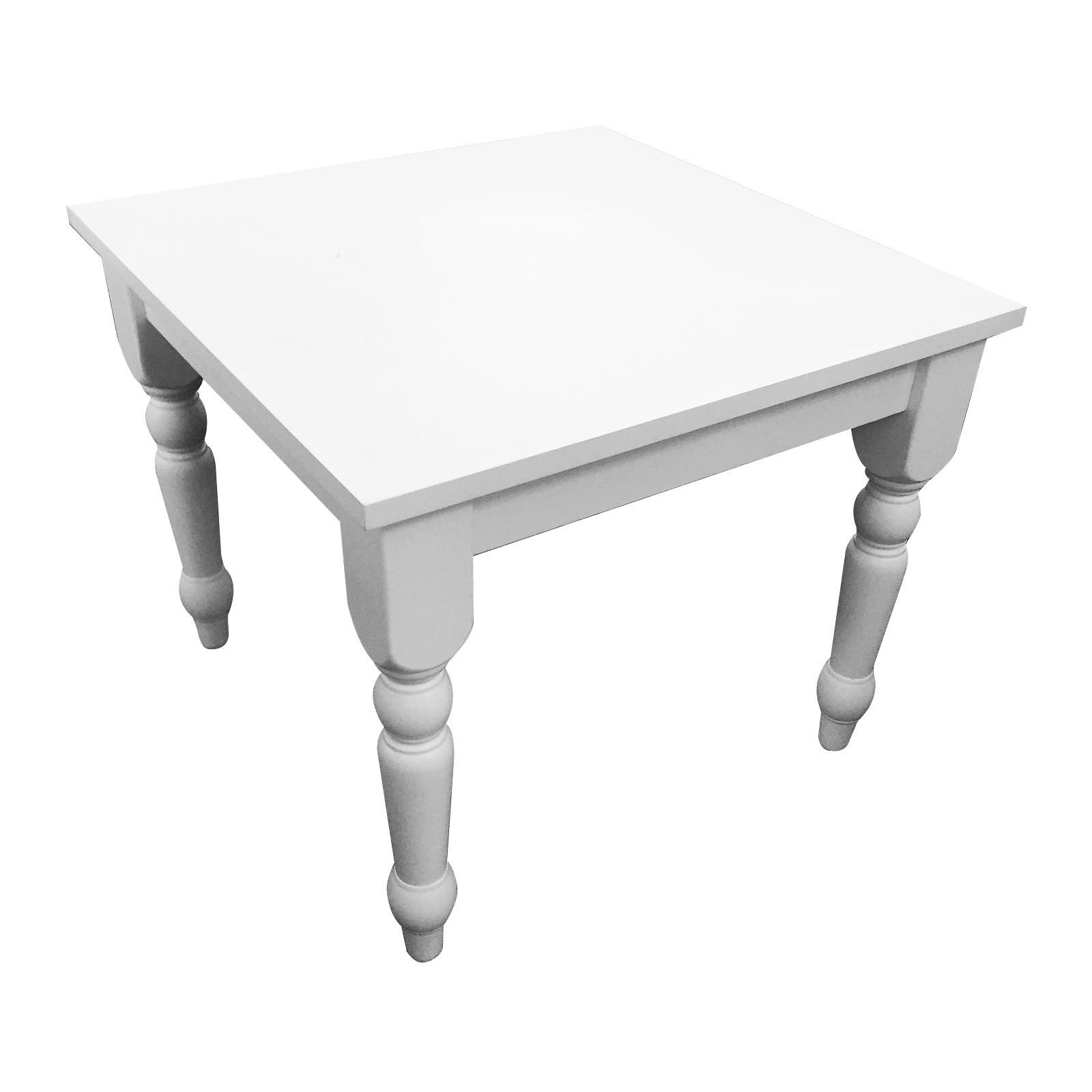 Washington Rubber Wood Square Lamp Table