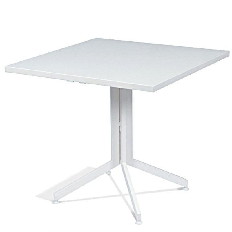 Waikiki Commercial Grade Foldable Indoor/Outdoor Square Dining Table, 80cm, White