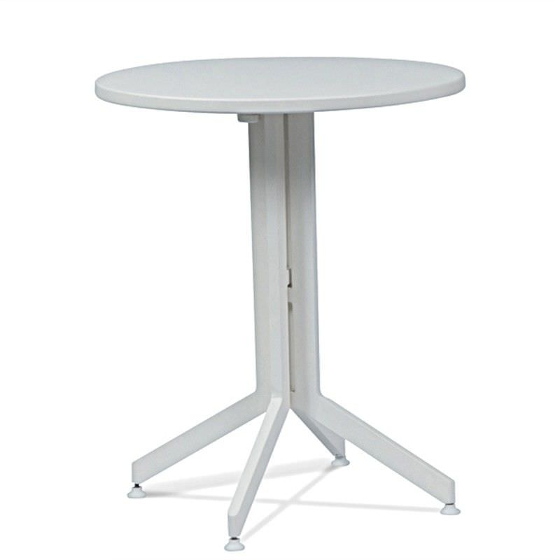 Wanika Commercial Grade Foldable Indoor/Outdoor Round Dining Table, 60cm, White