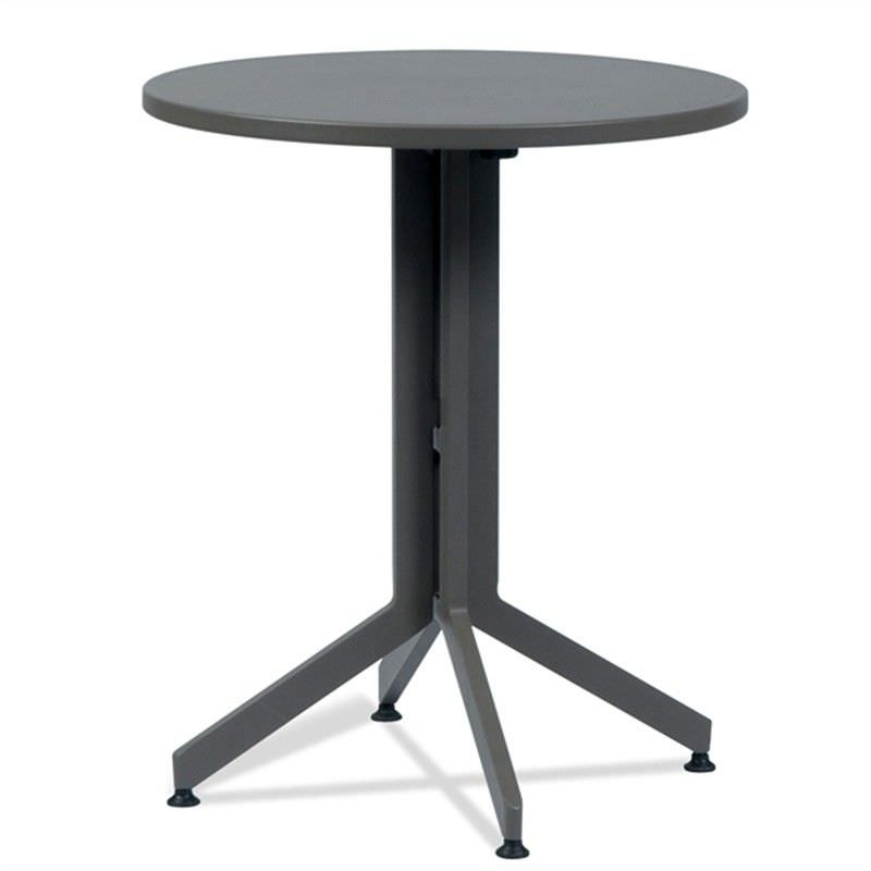 Wanika Commercial Grade Foldable Indoor/Outdoor Round Dining Table, 60cm, Grey