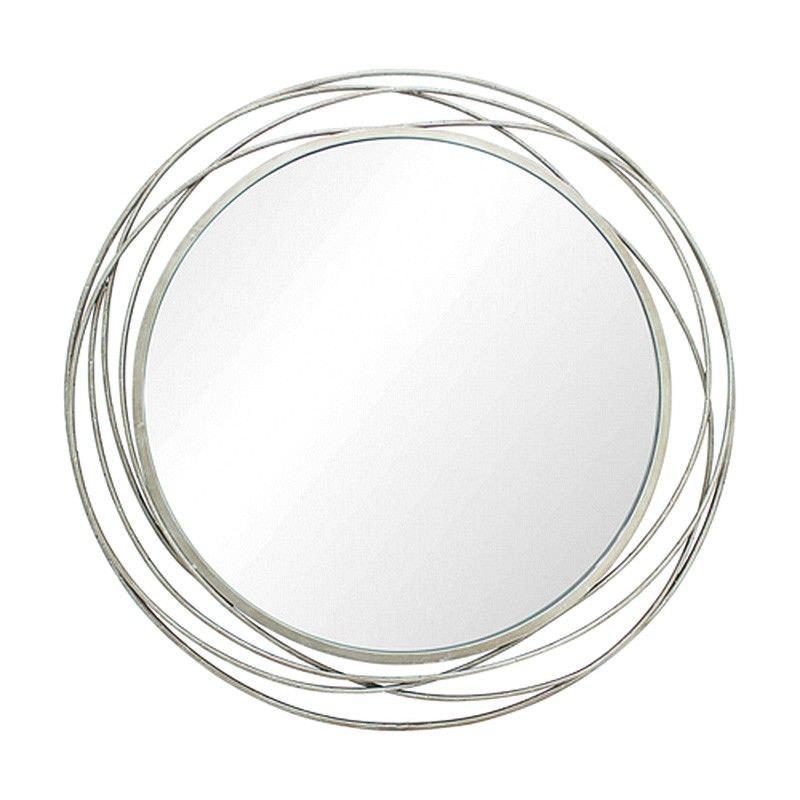 Jocelyn Metal Frame Round Wall Mirror, 90cm