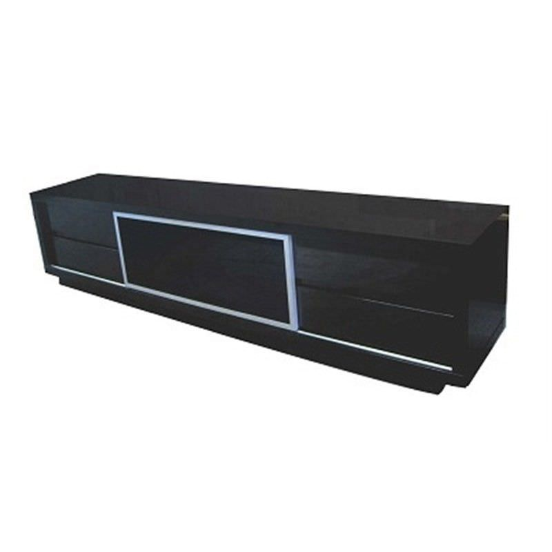 WD-205 240cm TV Unit in Gloss Black MDF
