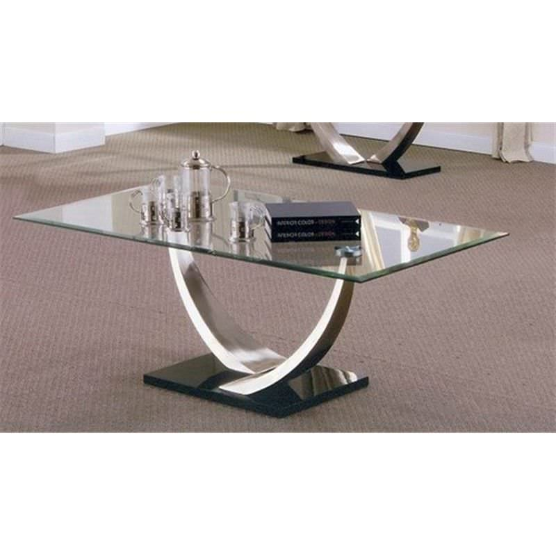 Decor Glass Top 125cm Coffee Table