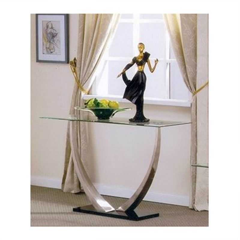 Decor Glass Top 120cm Console Table