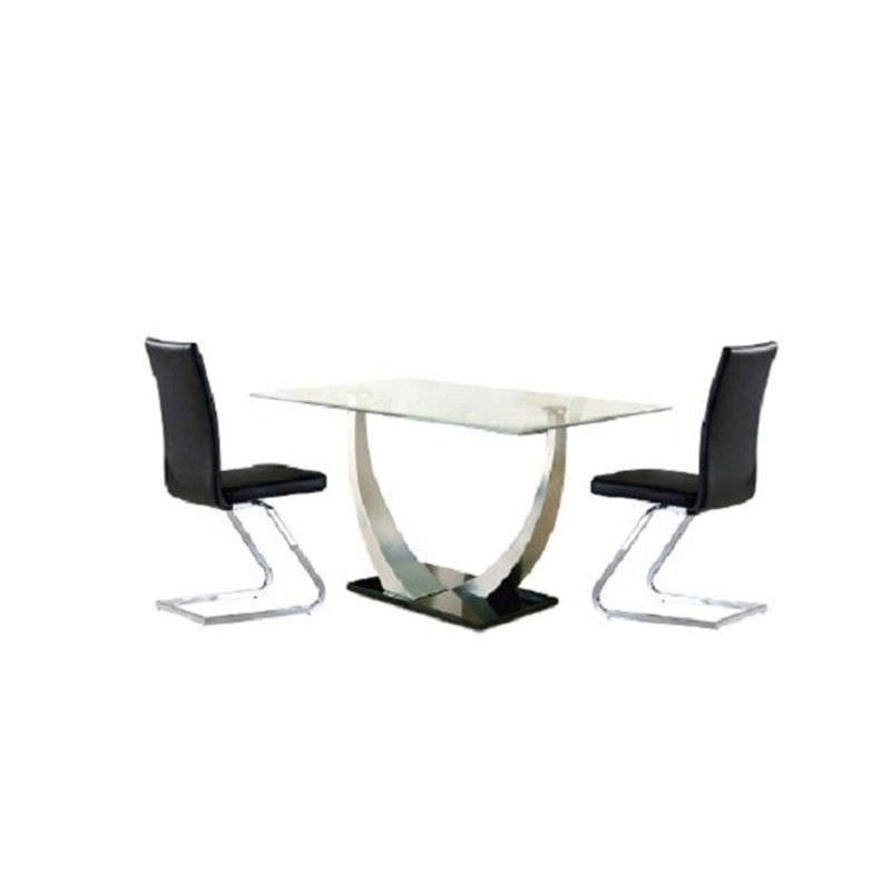 Decor Glass Top 180cm Dining Table (Table Only)