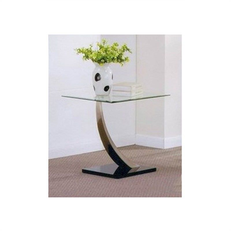 Decor Glass Top Lamp Table