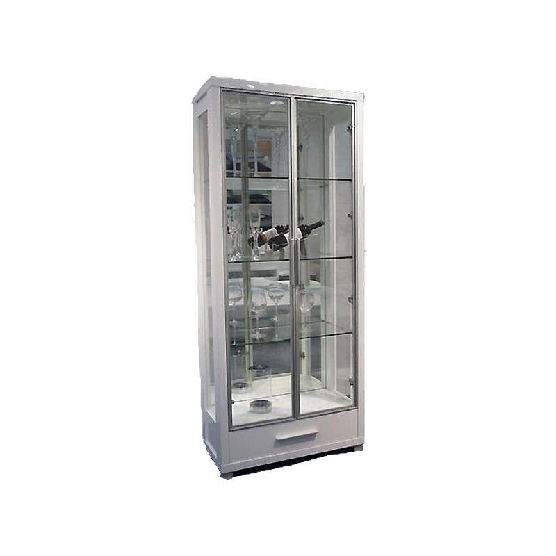 York Glossy Display Unit White - 80.5x39.5x190cm