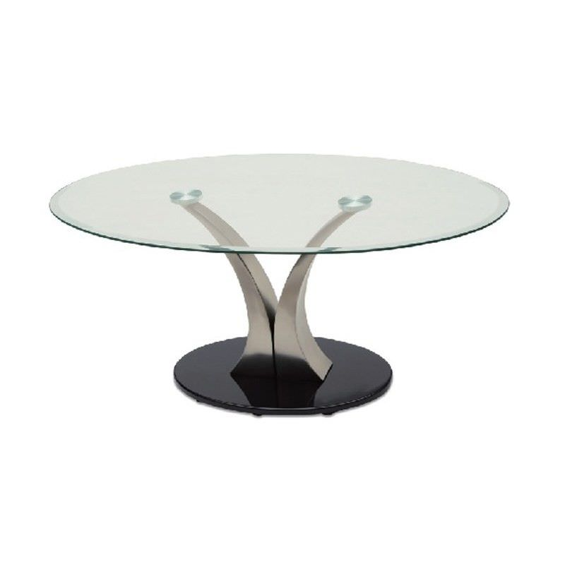 Bekki Glass Top 100cm Round Coffee Table