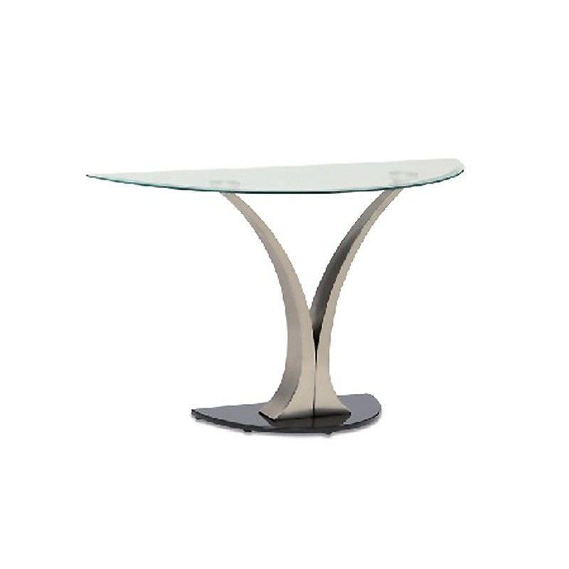 Bekki Glass Top 117cm Semi Round Hall Table