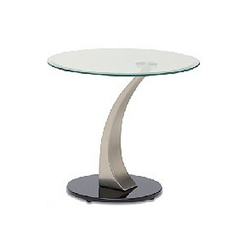 Bekki Glass Top Round Lamp Table