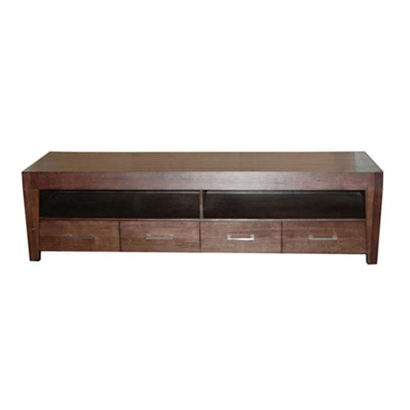 WD-002 210cm TV Unit in in Expresso Tasmanian Oak