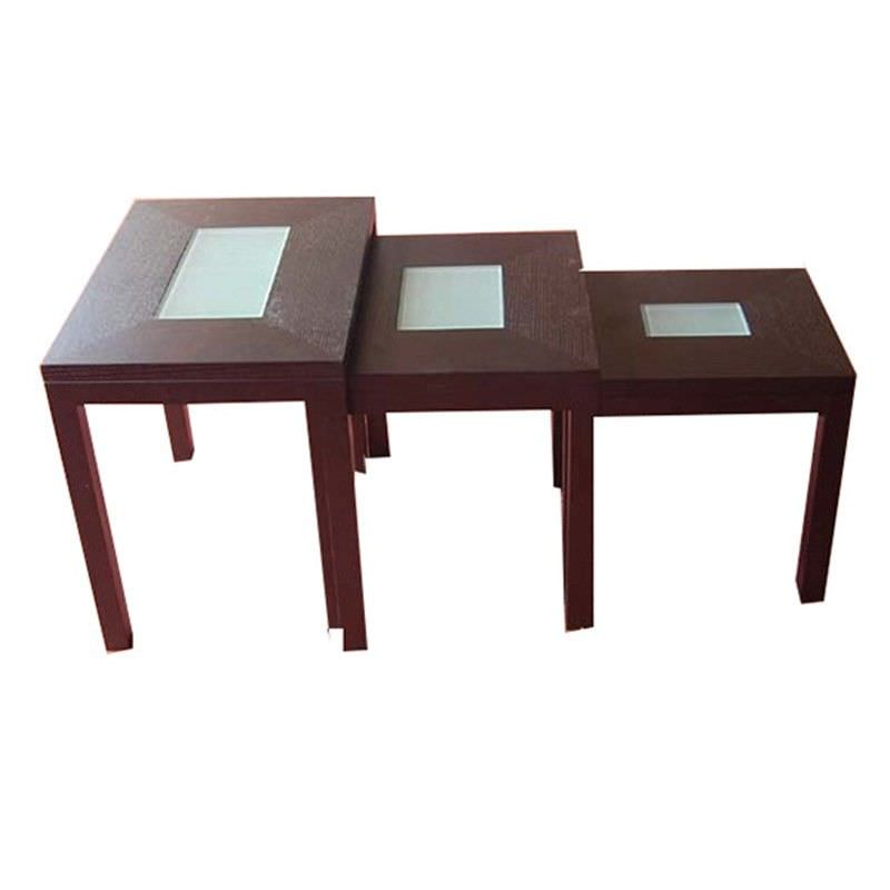 WD-95 Nest Table  in Walnut Timber Veneer