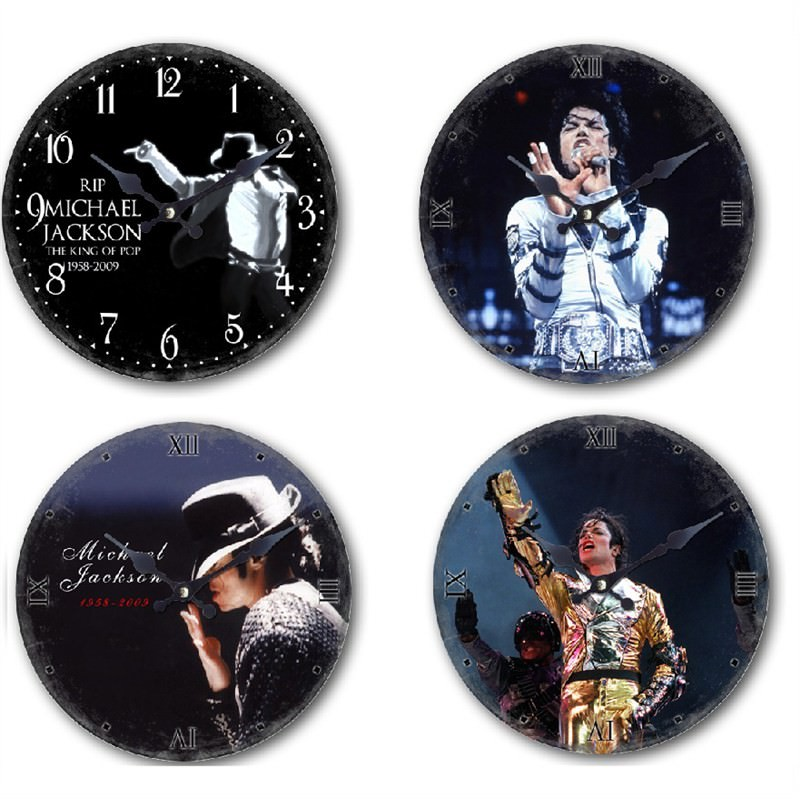 Michael Jackson clock set of 4 - 28.8cm each