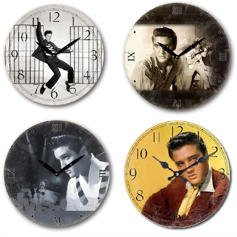 Elvis Presley Clock set of 4 - 28.8cm each