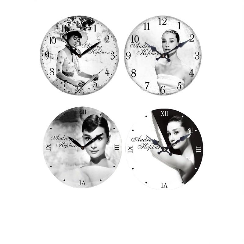 Audrey wall clock set of 4 - 28.8cm each