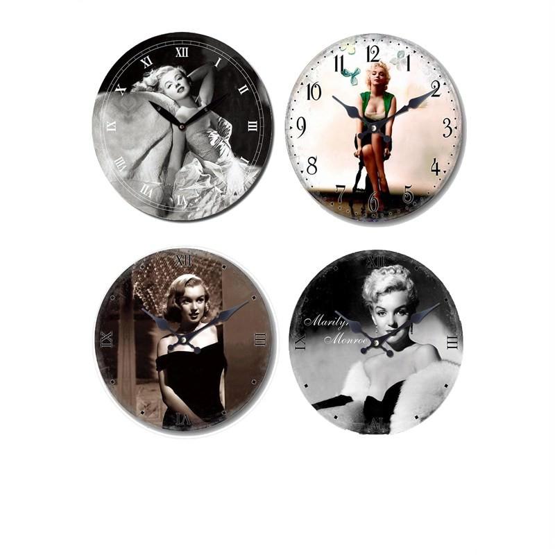 Marilyn wall clock set of 4 - 28.8cm each