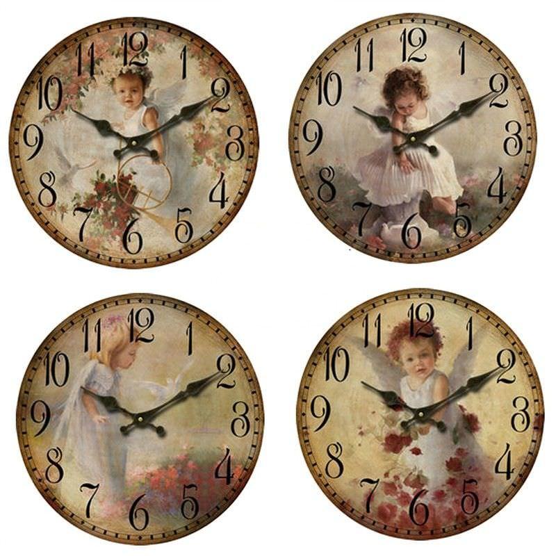 Angel clock Dia - 28.8cm set of 4 - 28.8cm each