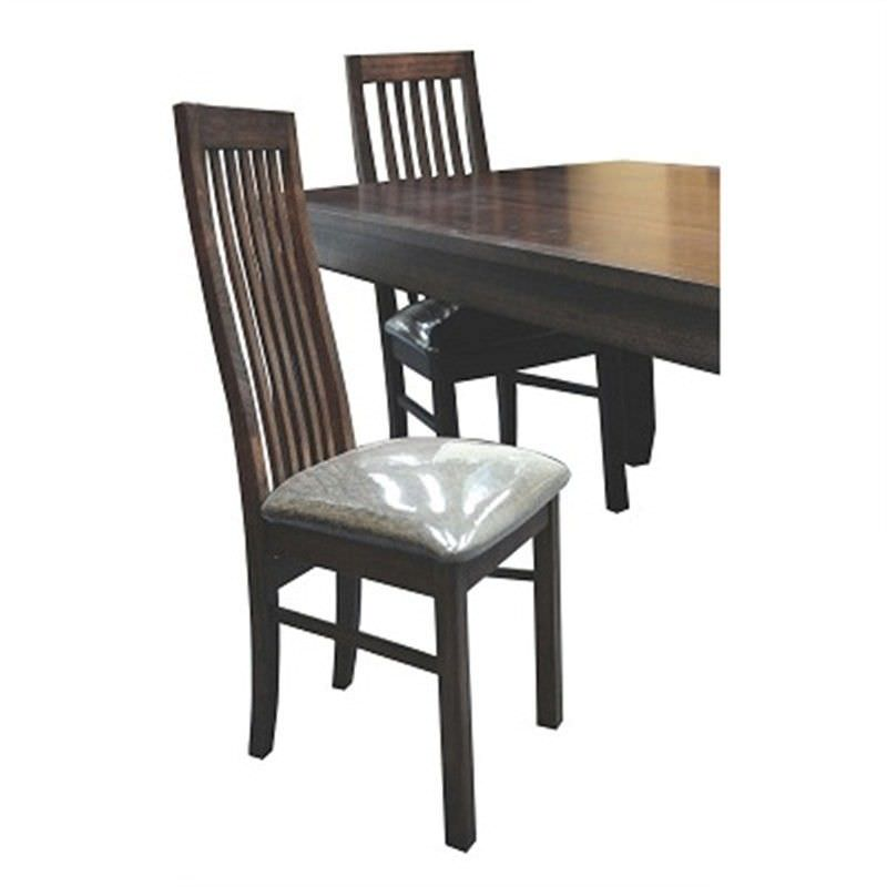 WD002 Tasmanian Oak Timber Dining Chair - Espresso