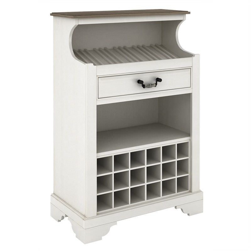 White Haven Solid Pine Timber Wine Storage Unit