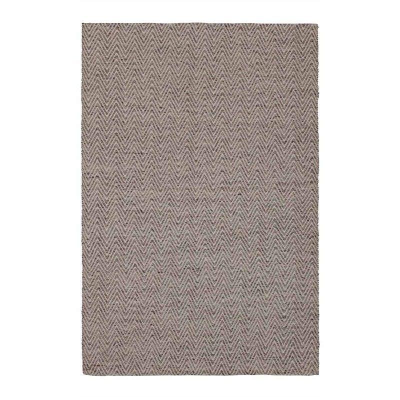 Weaves Herringbone Hand Woven Wool Rug, 250x350cm, White