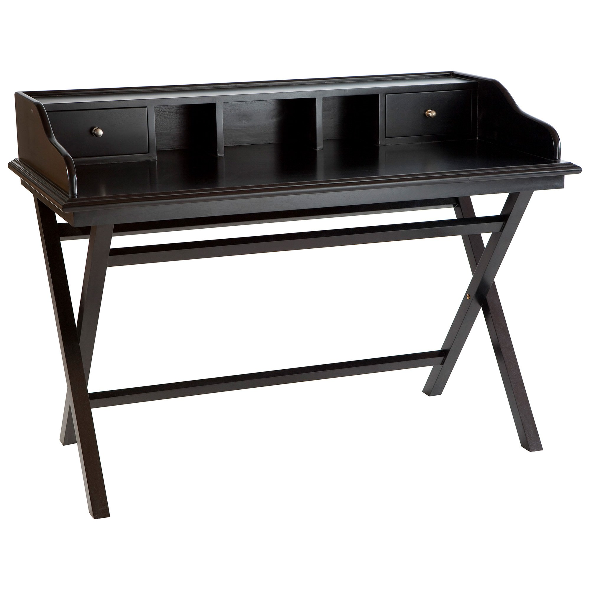 Whitehall Mahogany Timber Secretary Desk, 130cm, Black