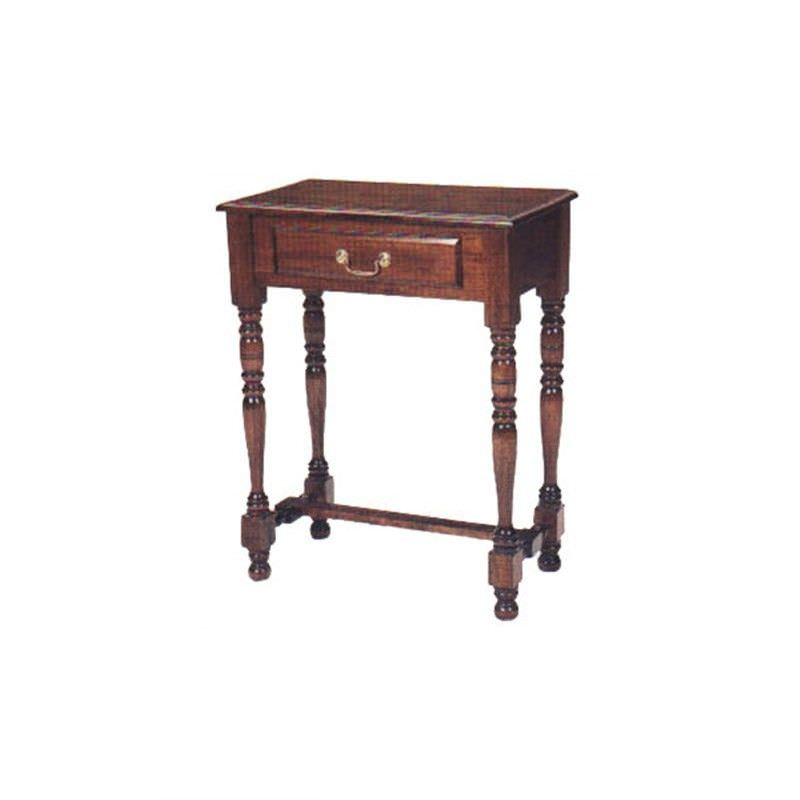 Solid Mahogany Timber Single Drawer Hall Table