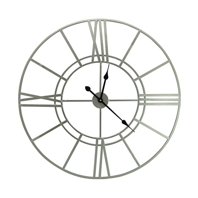 Billy Iron Round Wall Clock, 80cm