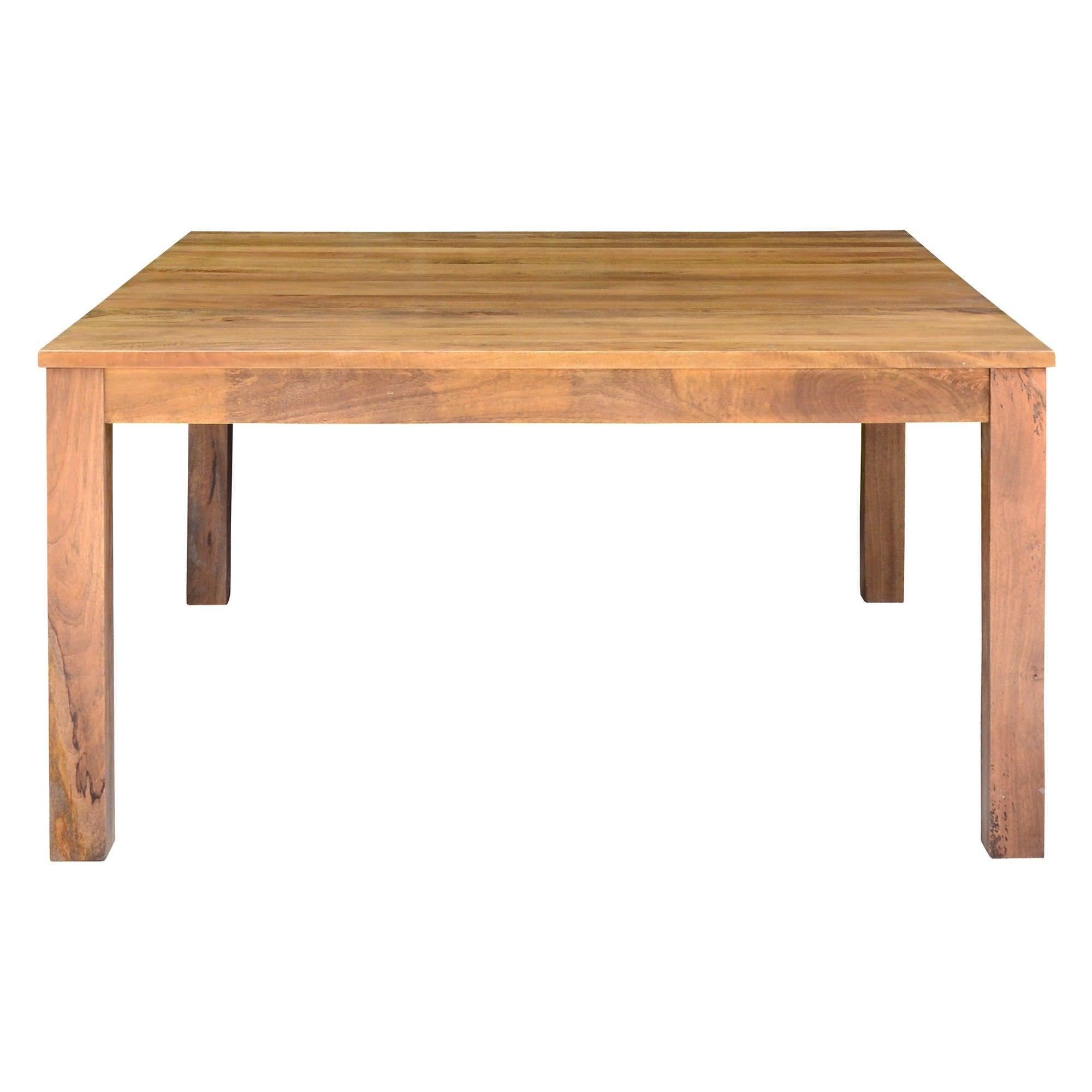 Merle Mango Wood Square Dining Table, 150cm