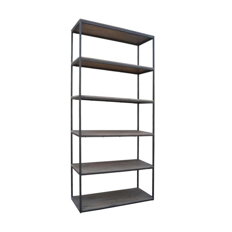 Byrne Mango Wood & Metal Display Shelf