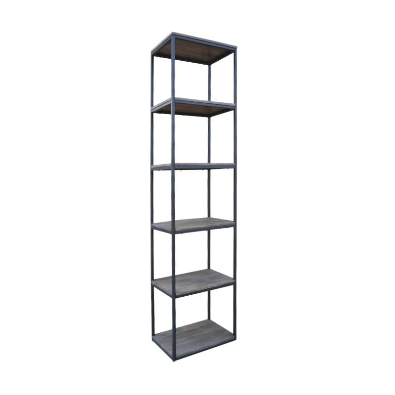 Byrne Mango Wood & Metal Display Shelf, Slim