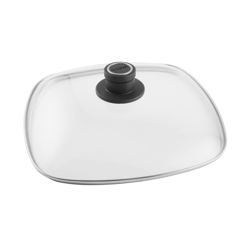 Woll Safety Glass Lid, Square, 28cm