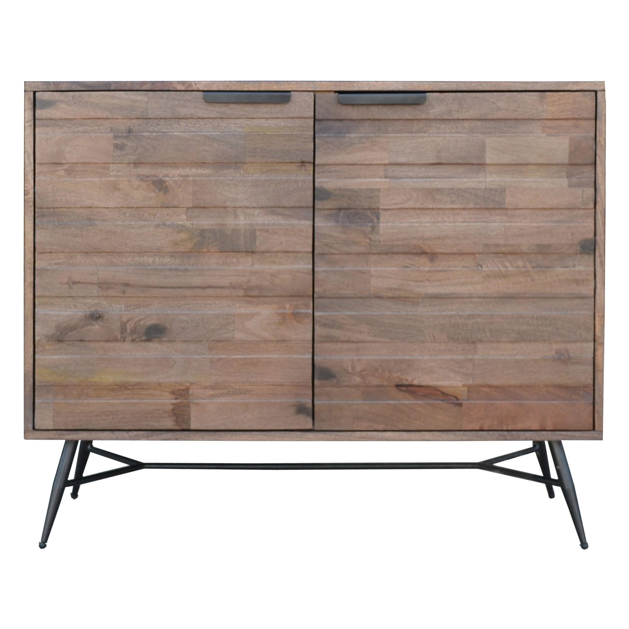 Watson Mango Wood & Metal 2 Door Side Cabinet, 100cm
