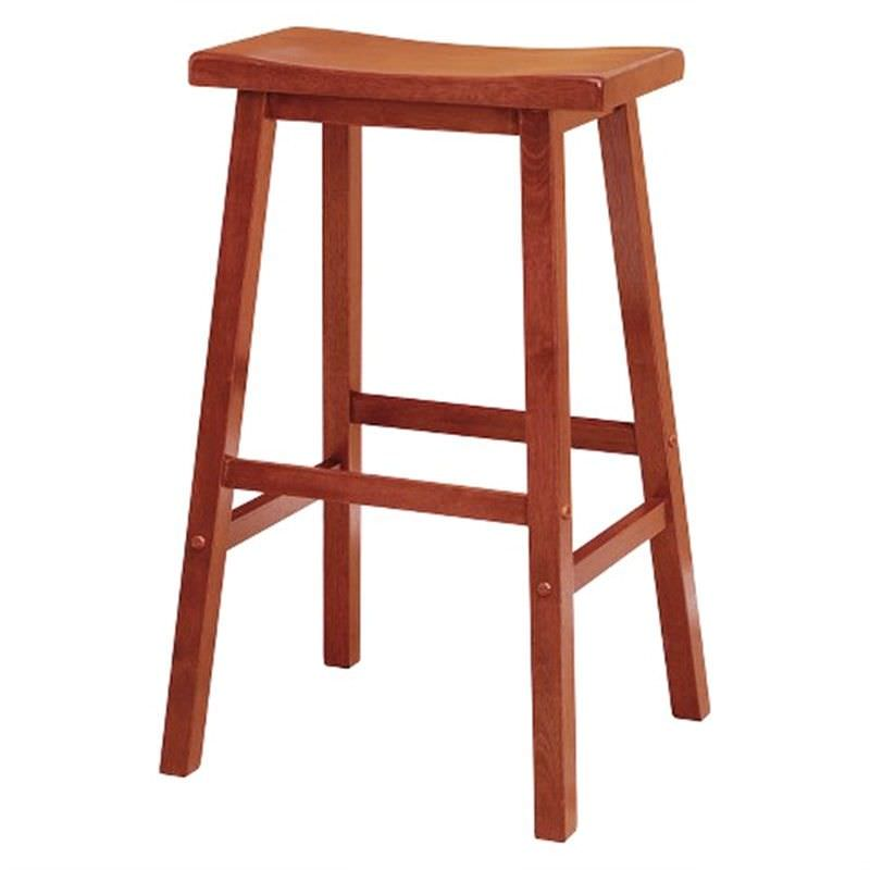 Samarai Solid Rubberwood Timber Stool, Maple