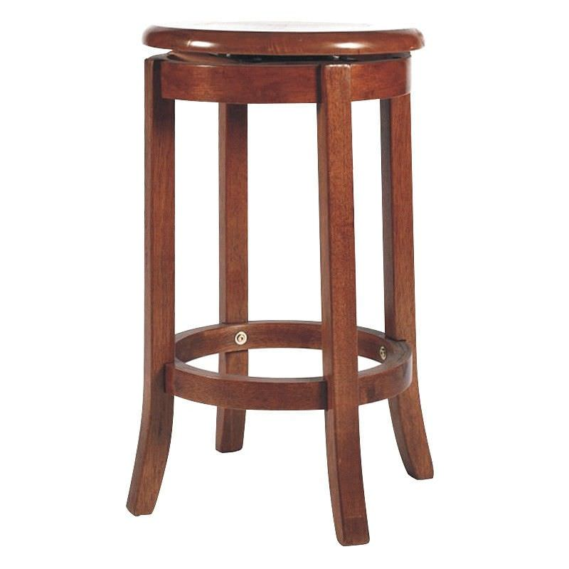 Vaxjo Solid Rubberwood Timber Swivel Stool with Timber Seat, Maple