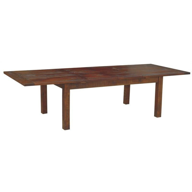 Virginia Solid Mango Wood Timber 210-310cm Extensible Dining Table - Dark Brown