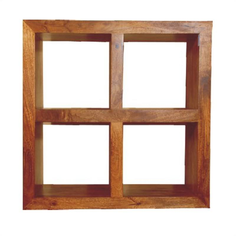 Square Display Rack with 4 Cubes