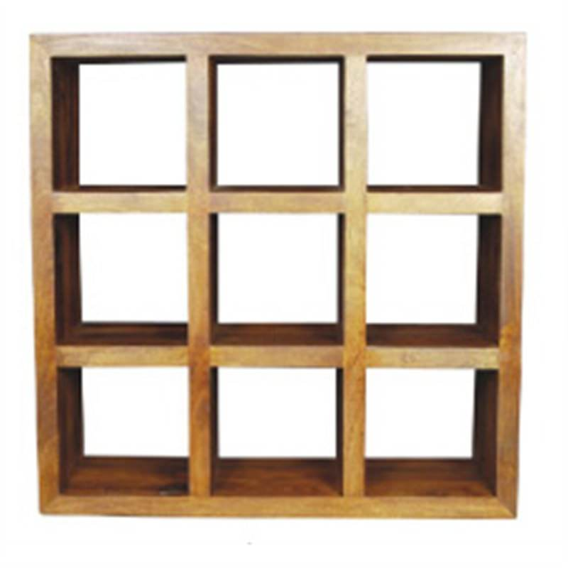 Display Rack with 9 Cubes