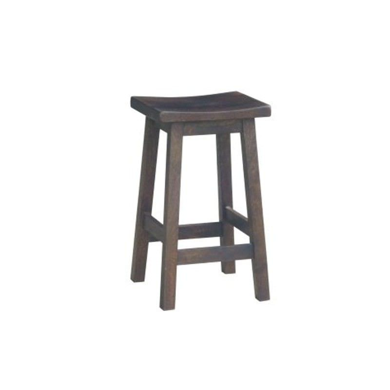 Osaka Solid Mango Wood Counter Stool, Charcoal