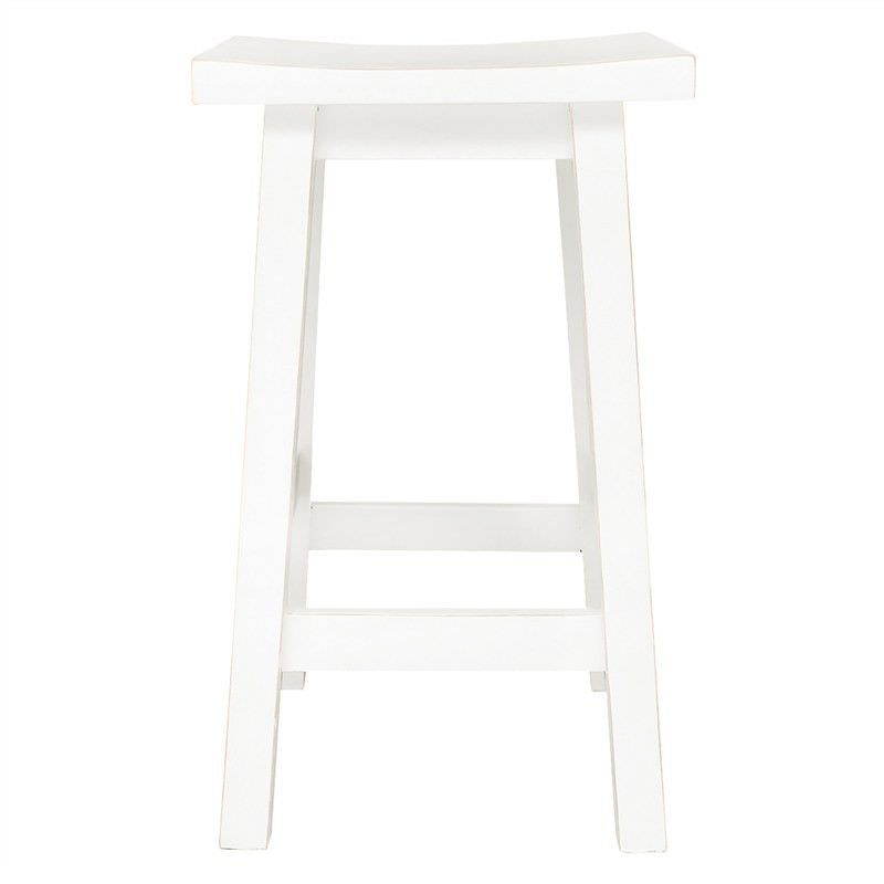 Osaka Solid Mango Wood Counter Stool, White