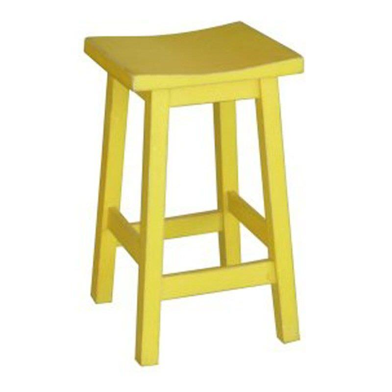 Osaka Solid Mango Wood Counter Stool, Yellow